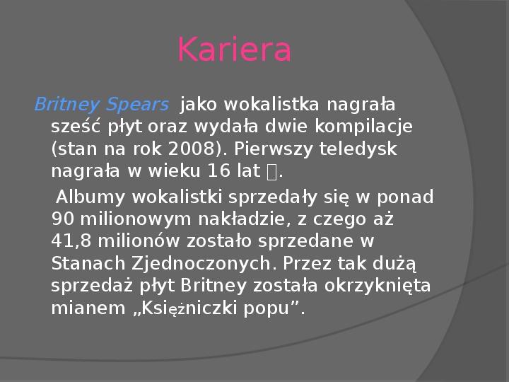Britney Spears - Życie i kariera - Slajd 11