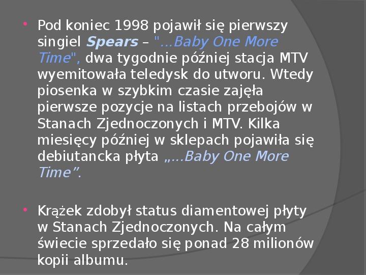 Britney Spears - Życie i kariera - Slajd 17