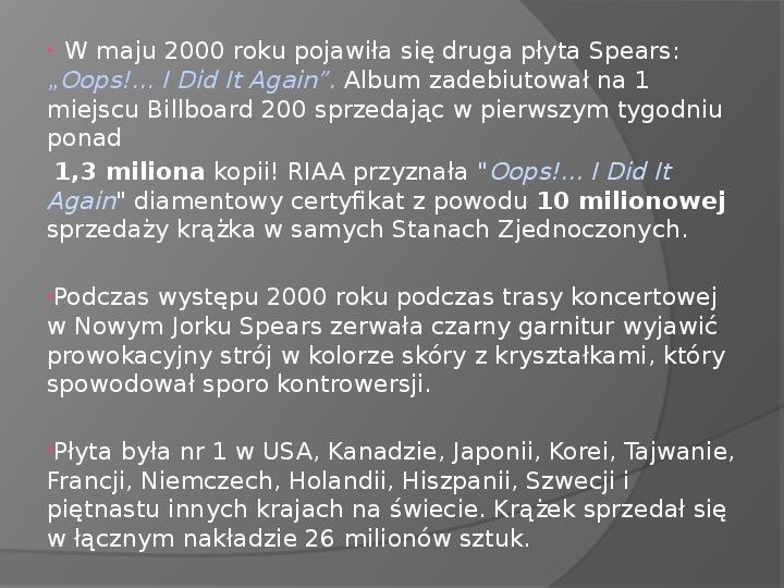 Britney Spears - Życie i kariera - Slajd 19