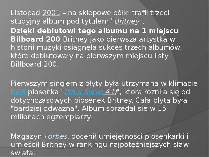 Britney Spears - Życie i kariera - Slajd 21