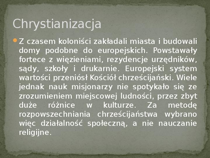 Ekspansja cywilizacji europejskiej - Slajd 16