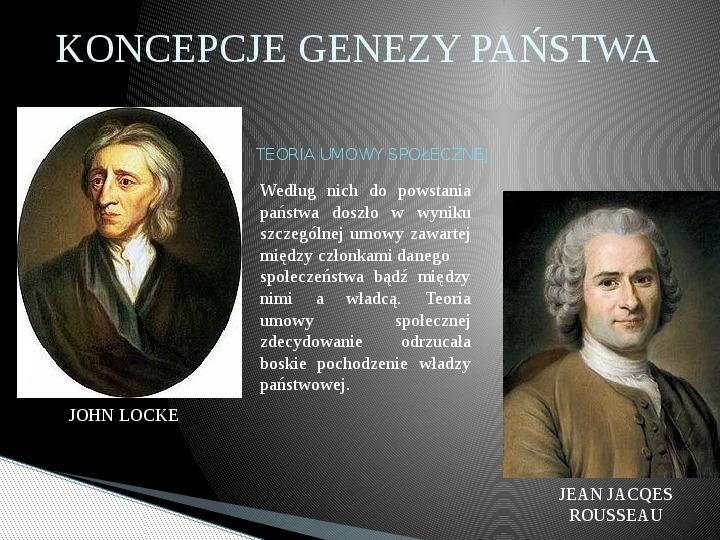 Geneza oraz pojęcie państwa i władzy państwowej - Slajd 11
