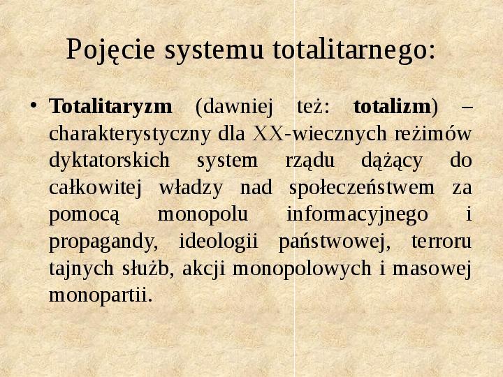 Obywatel a władza w systemach totalitarnych i autorytarnych - Slajd 1