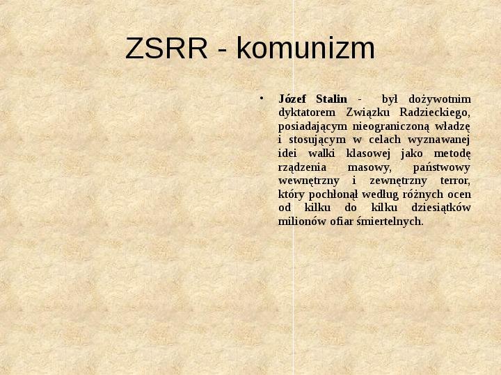 Obywatel a władza w systemach totalitarnych i autorytarnych - Slajd 4