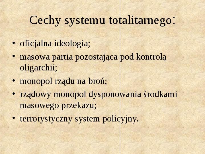 Obywatel a władza w systemach totalitarnych i autorytarnych - Slajd 5