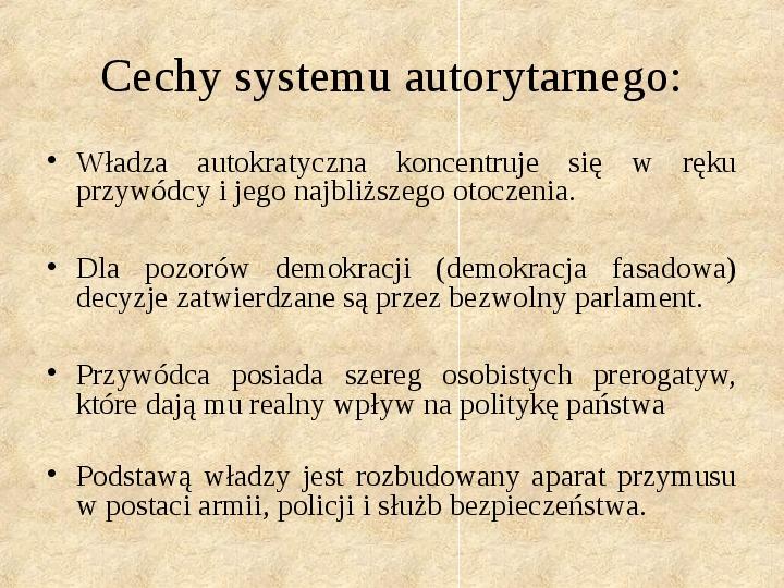Obywatel a władza w systemach totalitarnych i autorytarnych - Slajd 7