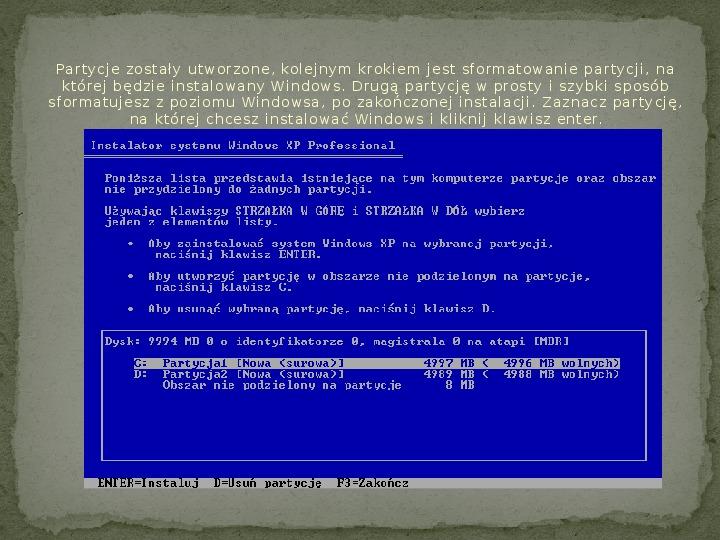 Instalacja Windows XP - Slajd 9