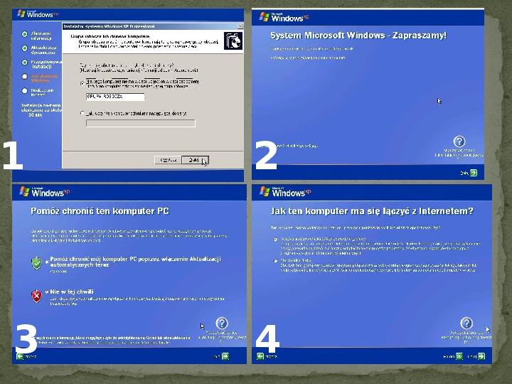 Instalacja Windows XP - Slajd 14