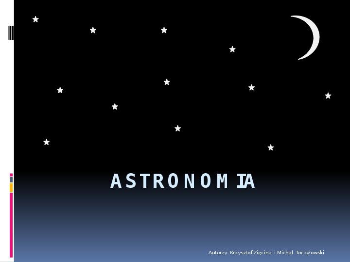 Astronomia - Slajd 1