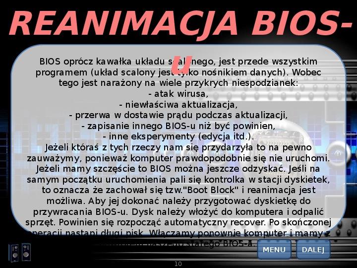 BIOS - Slajd 9