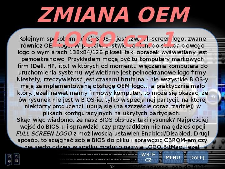 BIOS - Slajd 22