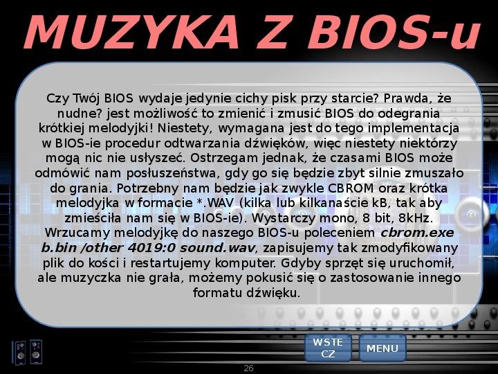 BIOS - Slajd 25