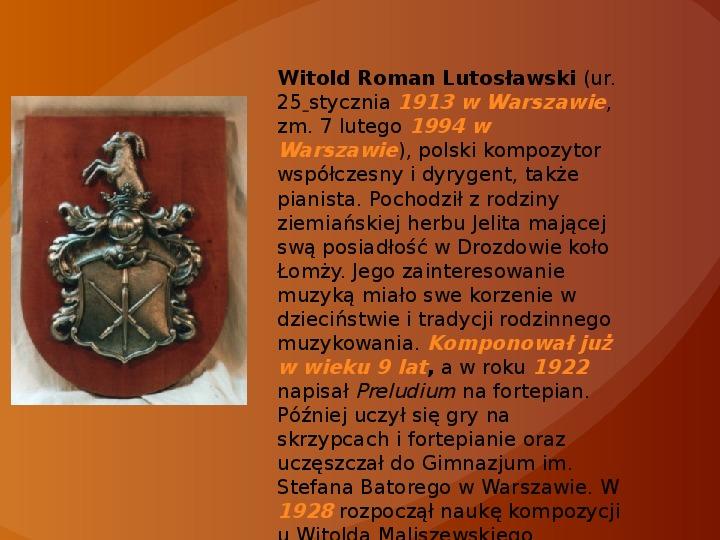 Witold Lutosławski - Slajd 1