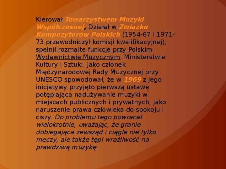 Witold Lutosławski - Slajd 4