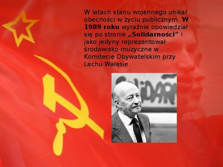 Witold Lutosławski - Slajd 5