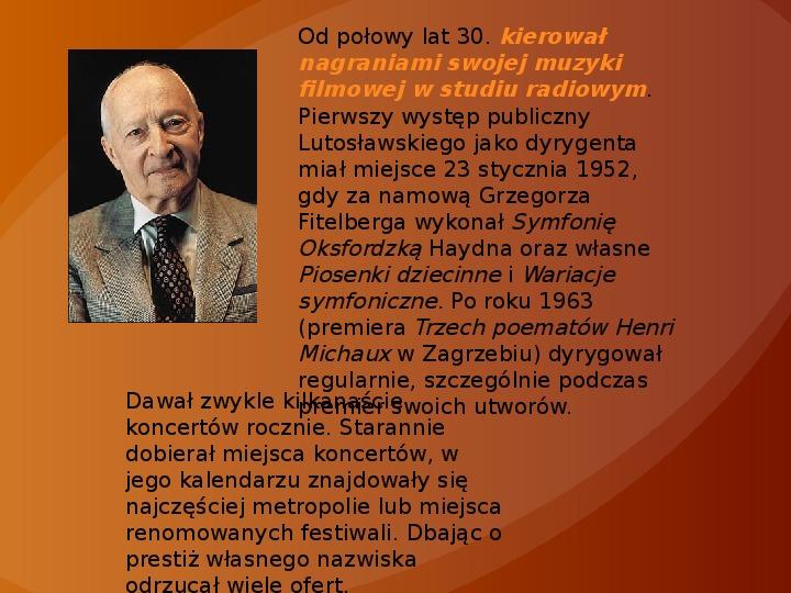 Witold Lutosławski - Slajd 8
