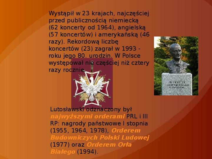 Witold Lutosławski - Slajd 9