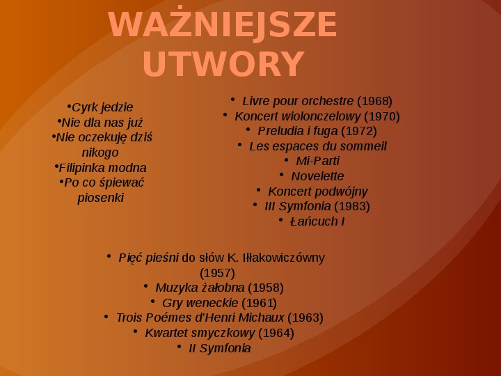 Witold Lutosławski - Slajd 11