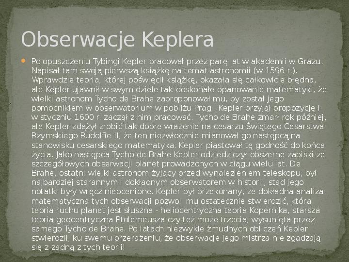 Johannes Kepler - Slajd 2