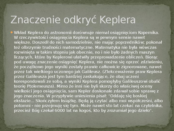 Johannes Kepler - Slajd 4