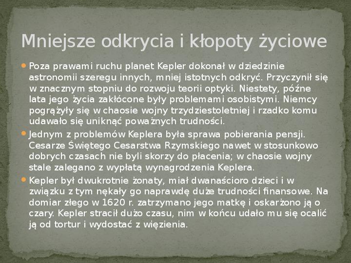 Johannes Kepler - Slajd 5