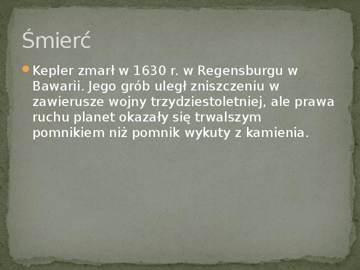 Johannes Kepler - Slajd 6