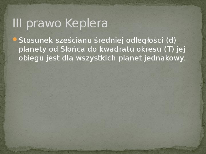 Johannes Kepler - Slajd 9
