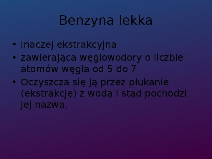 Benzyna - Slajd 3