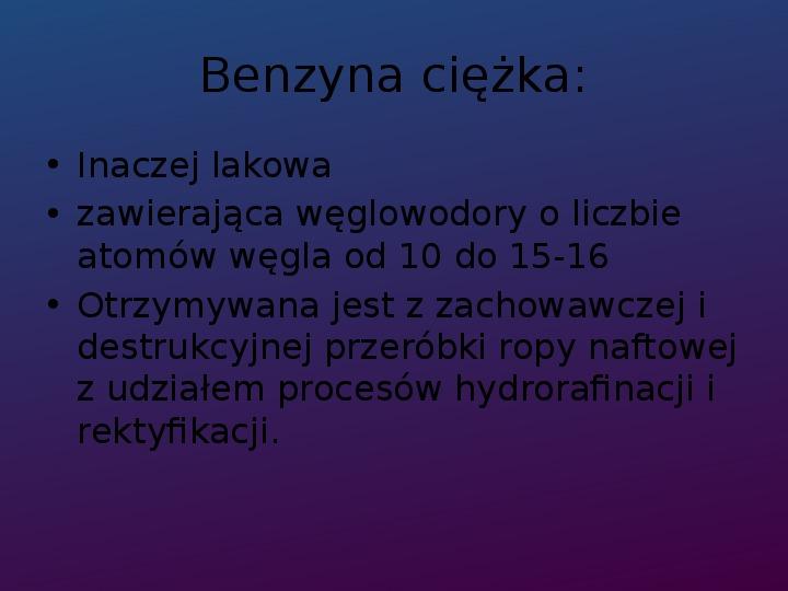 Benzyna - Slajd 4