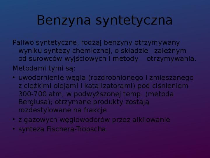Benzyna - Slajd 7