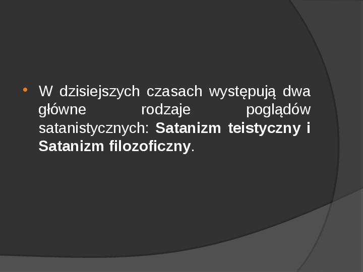 Satanizm - Slajd 2