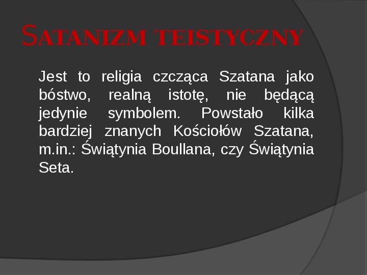 Satanizm - Slajd 3