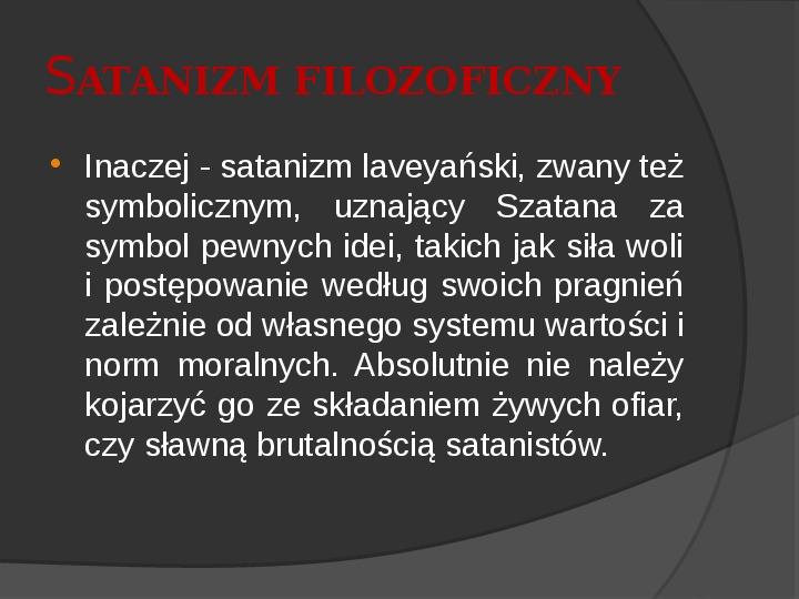 Satanizm - Slajd 8