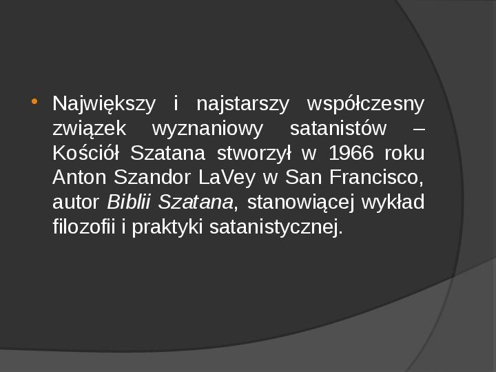 Satanizm - Slajd 10