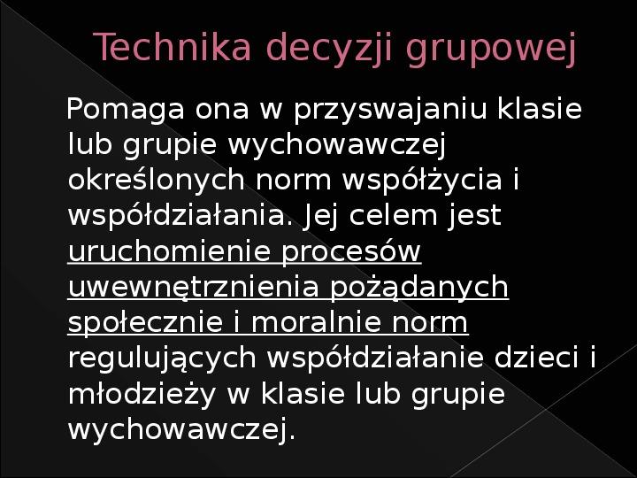 Techniki wymiany opinii - Slajd 5
