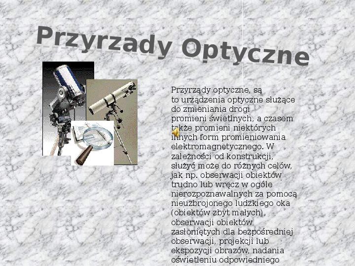 Przyrządy optyczne - Slajd 1