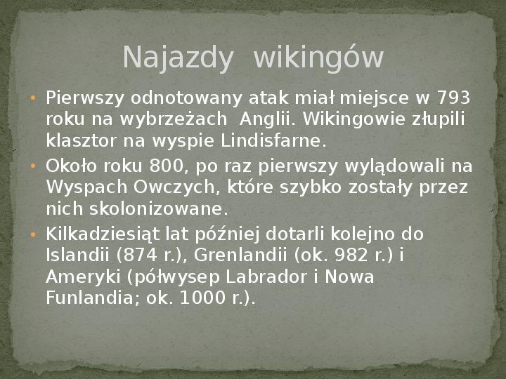 Wikingowie - Slajd 3