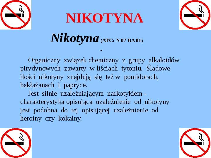 Nikotynizm - Slajd 1