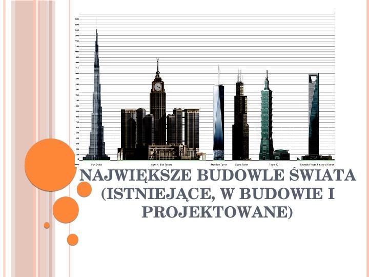 Największe budowle świata - Slajd 1