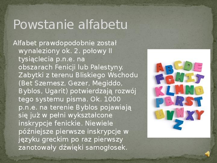 Od rysunków naskalnych do alfabetu - Slajd 5