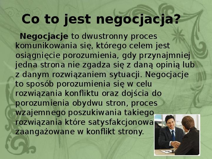 Konflikty i negocjacje - Slajd 10