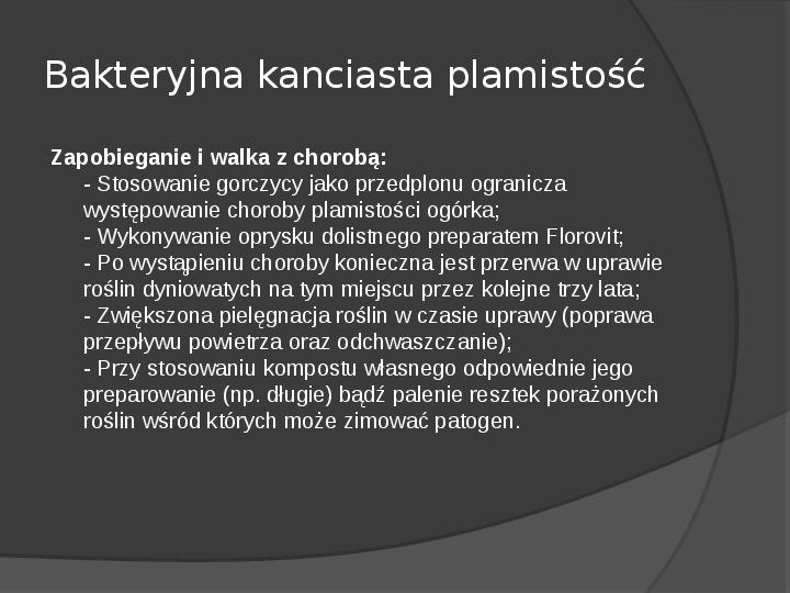 Choroby roślin warzywnych - Slajd 63