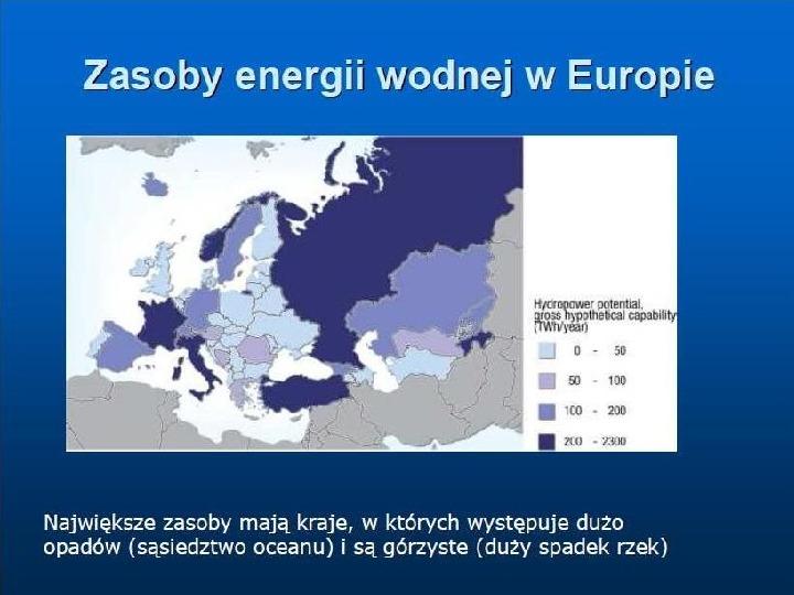 Ekologia - energia wodna - Slajd 1