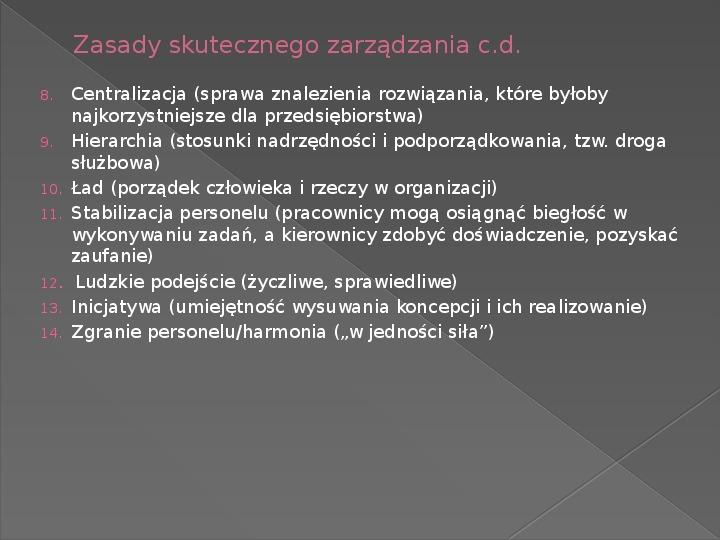 Ewolucja teorii zarządzania - Slajd 12