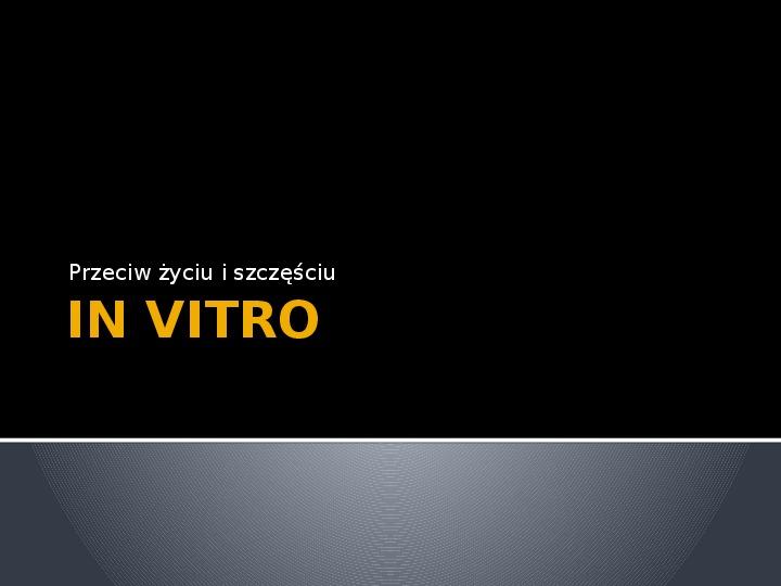 In Vitro - Slajd 1