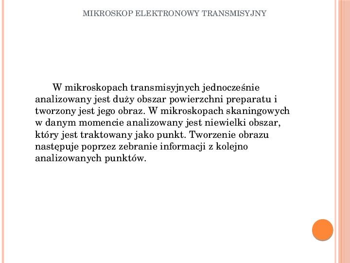 Mikroskop elektronowy transmisyjny - Slajd 1