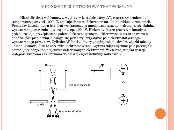 Mikroskop elektronowy transmisyjny - Slajd 11