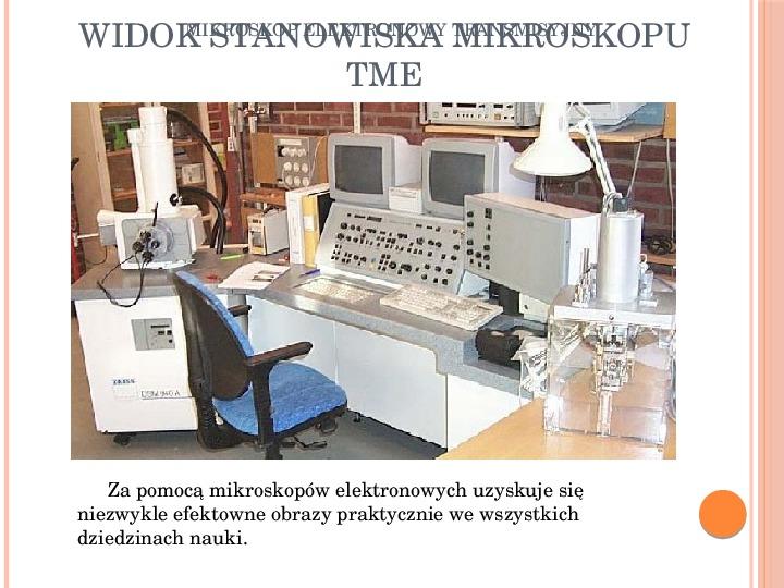 Mikroskop elektronowy transmisyjny - Slajd 12