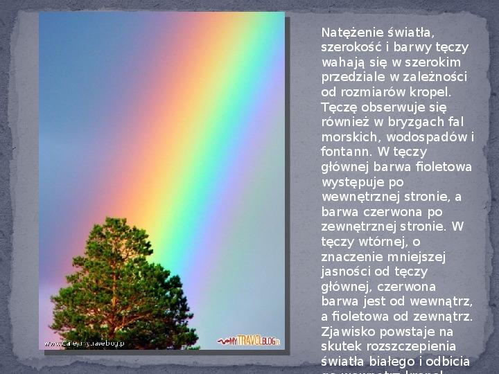 Zjawiska optyczne w przyrodzie - Slajd 3