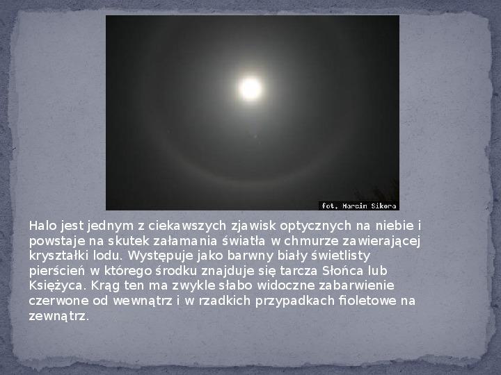 Zjawiska optyczne w przyrodzie - Slajd 13